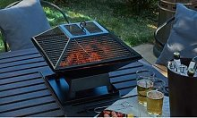 Portable Fire Pit and BBQ Grill