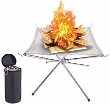 Portable Fire Pit Outdoor Fireplace with Carrying