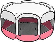 Portable foldable 8-sided pet