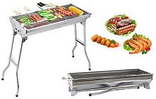 Portable Foldable Stainless Steel BBQ Grill