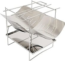 Portable Foldable Stainless Steel Bonfire Charcoal