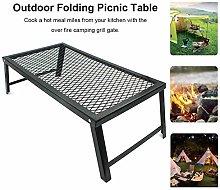 Portable Folding Campfire Grill Heavy Duty Camping