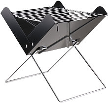 Portable Folding Charcoal Grill Stainless Steel