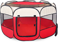 Portable Folding Pet Tent Cage Playpen Fence