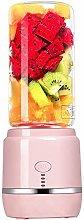 Portable fruit blender, 400ml glass bottle with