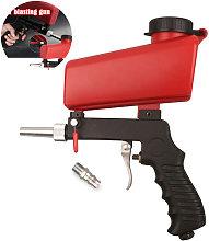Portable Gravity Pneumatic Sandblasting Guns 90psi