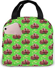 Portable Insulated Kids Lunch Bag, Cherry