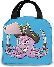 Portable Insulated Kids Lunch Bag, Octopus