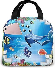 Portable Insulated Kids Lunch Bag, Underwater