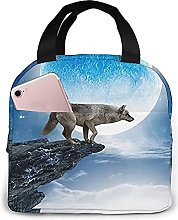 Portable Insulated Kids Lunch Bag, Wolf Waterproof