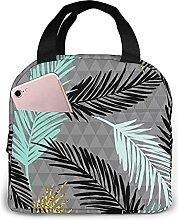 Portable Insulated Lunch Bag, Artistic Leaves