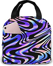 Portable Insulated Lunch Bag, Brilliant Stripes