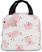 Portable Insulated Lunch Bag, Cartoon Pig Lunch