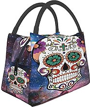 Portable Insulated Lunch Bag,Colorful Mexican