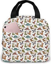 Portable Insulated Lunch Bag, Dinosaur Waterproof