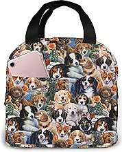Portable Insulated Lunch Bag, Funny Dog Waterproof