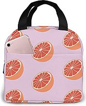 Portable Insulated Lunch Bag, Grapefruit
