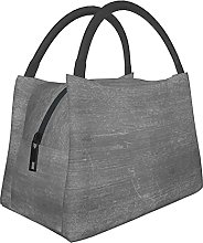 Portable Insulated Lunch Bag,Gray Wall