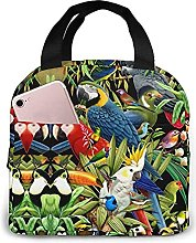 Portable Insulated Lunch Bag, Parrot Waterproof