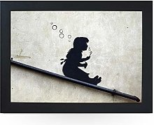 Portable Lap Desk Tray (Banksy Bubble Girl)