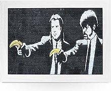 Portable Lap Desk Tray (Banksy Pulp Fiction)
