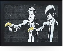 Portable Lap Desk Tray (Banksy Pulp Fiction)