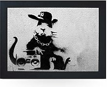 Portable Lap Desk Tray (Banksy Rapper Rat)
