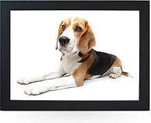 Portable Lap Desk Tray (Beagle Dog) Handmade