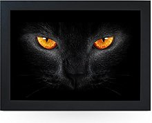 Portable Lap Desk Tray (Black Cat with Orange