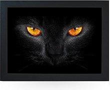 Portable Lap Desk Tray (Black Cat with Orange