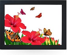 Portable Lap Desk Tray (Butterflies and Flowers)