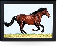 Portable Lap Desk Tray (Chestnut Horse Running)