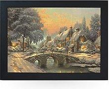Portable Lap Desk Tray (Christmas Painting)
