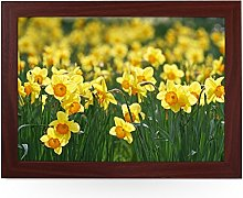 Portable Lap Desk Tray (Daffodil Flowers) Handmade