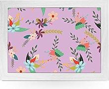 Portable Lap Desk Tray (Floral Pattern) Handmade