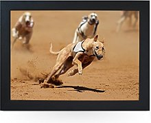 Portable Lap Desk Tray (Greyhound Dogs Racing)