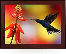 Portable Lap Desk Tray (Hummingbird with Flower)
