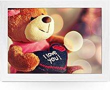 Portable Lap Desk Tray (I Love You Toy Teddy Bear)