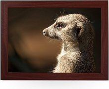 Portable Lap Desk Tray (Meerkat) Handmade Wooden
