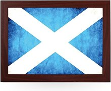 Portable Lap Desk Tray (Scottish Flag Grunge)