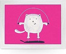 Portable Lap Desk Tray (Skipping Cartoon Cat)