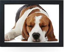 Portable Lap Desk Tray (Sleeping Beagle Dog)