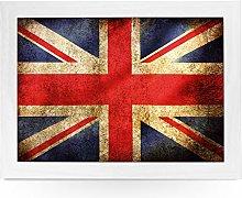 Portable Lap Desk Tray (Union Jack Flag Grunge)