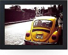 Portable Lap Desk Tray (VW Beetle Yellow) Handmade