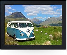 Portable Lap Desk Tray (VW Campervan Blue On Hill)
