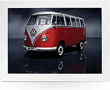 Portable Lap Desk Tray (VW Campervan Red) Handmade