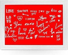 Portable Lap Desk Tray (Words of Love) Handmade