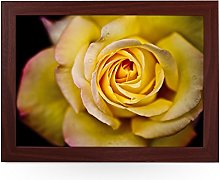 Portable Lap Desk Tray (Yellow Rose) Handmade