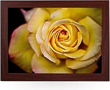 Portable Lap Desk Tray (Yellow Rose) Handmade