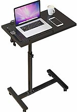 Portable Laptop C-Shaped Desk,Rolling Laptop Desk